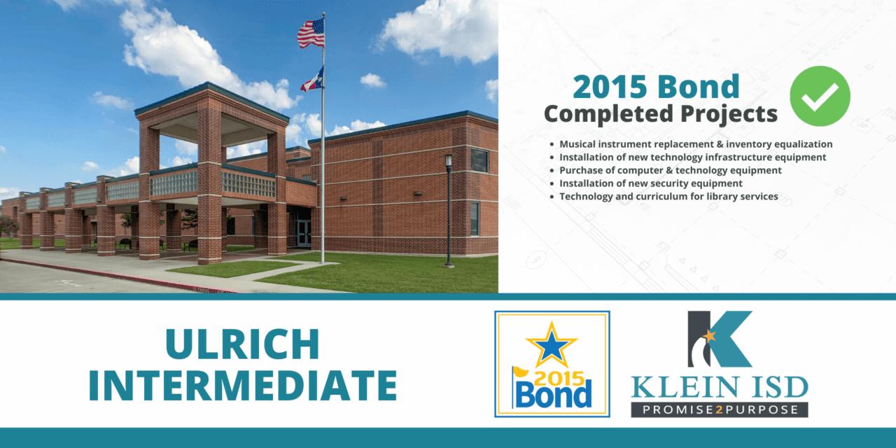 2015 Bond Completion Report – Ulrich Intermediate