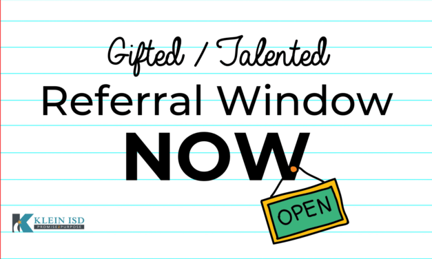 Gifted/Talented Referral Window Now Open