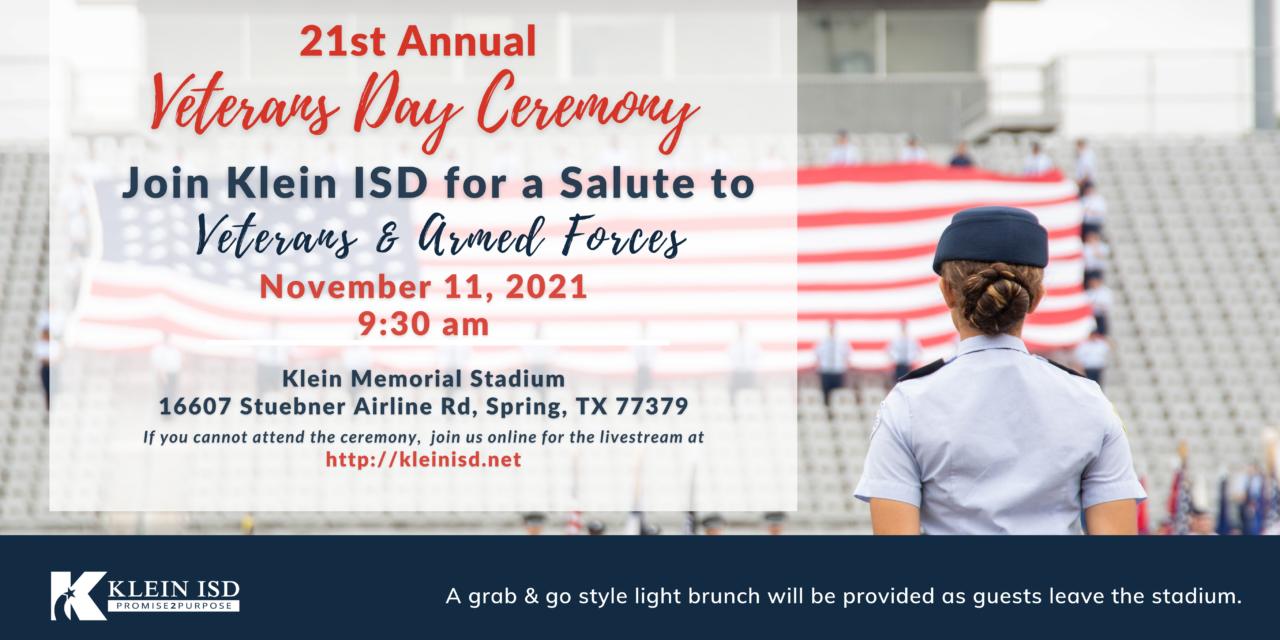 Klein ISD Plans Veterans Day Activities on November 11